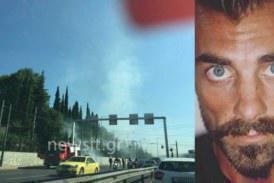 Ο Στέλιος Χανταμπάκης έσωσε γυναίκα οδηγό στην Κηφισίας! (pics)
