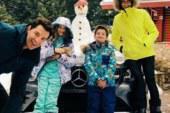 Σάκης Ρουβάς – Κάτια Ζυγούλη: Χειμερινή απόδραση με τα παιδιά!